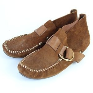 Vintage Minnetonka Brown Leather Moccasin Booties